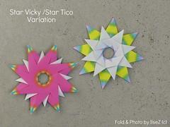Stern Vicky and Tico Star Variation (esli24) Tags: origamistar star stern origamistern weihnachten christmas ilsez evanzodl mariasinayskaya carmensprung papierstern