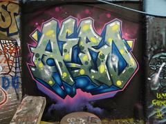 Aero graffiti, Leake Street (duncan) Tags: graffiti leakestreet aero