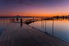 La mia prima alba (Luca Maresca) Tags: alba ponte lesina gargano lago pontile lungaesposizione canon 400d 2016 ottobre puglia foggia
