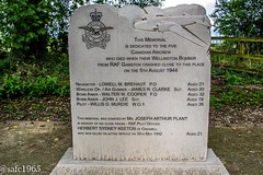 Cresswell Crags Memorial (safc1965) Tags: creswell crags memorial canadian rcaf bomber command