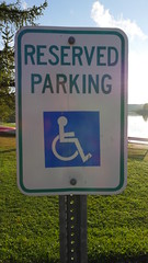 Herrington Manor (AccessDNR) Tags: 2016 herringtonmanor statepark garrettcounty westernmaryland sign signage reserved handicap ada