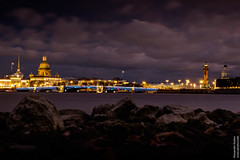 Saint Petersburg night lights (Alexander Kozlov) Tags: 2016 fall spb sanktpeterburg saintpetersburg russia ru             coast isaac saintisaacscathedral columnarostrata rostralcolumn column city light lights night stones river water neva fujinonxf1855mm fujifilmxe2