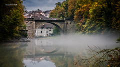Reflects On Mist (Jean McLane) Tags: reflects reflets reflection ain champagnole jura france mist brouillard brume