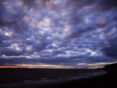 Quilted sky (Karls Kamera) Tags: clouds fluffy quilted sky solway firth blue whitehaven