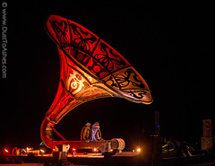 La Victrola, Burning Man 2016 (Dust To Ashes) Tags: burningmanfestival burningman2016 burningman davincisworkshop bm2016 2016 dust ashes dusttoashes wwwdusttoashescom sculpture sculptures installation installations surreal duststorm playa desert nevada gerlach nv blackrockcity brc reno art burningmanart party desertparty people photography photos photo picture pictures ales summerfestival summervacation desertlandscapape gramophone noflashphoto lovers victor la victrola
