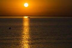Evening. (Pablin79) Tags: sky landscape reflections sunset water reflection sun light silhouette evening horizon peaceful peace dawn outdoors dusk backlit afternoon argentina silhouettes misiones posadas