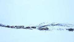 Katterjkk (theblueraindrop) Tags: winter house mountain snow landscape village sweden cottage scandinavia katterjkk katterjokk