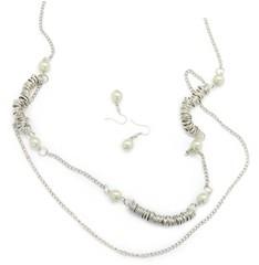 5th Avenue White Necklace P2610-5