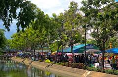 Ubon Ratchathani @ Festival Time (jcbkk1956) Tags: flowers thailand nikon market festivals stalls ubonratchathani khlong worldtrekker