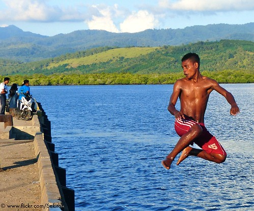 Jump at Pelabuhan Baranusa, Pantar NTT Indonesia
