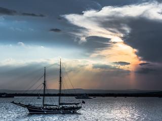 Sunset at Syrcusa/ Harbor- Sicily