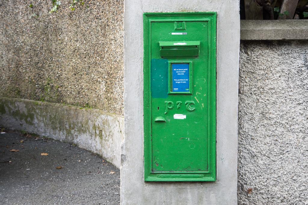 Old P&T Pillar Box  {Outside Oatlands College] Stillorgan Village Ref-100074