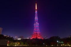 2014Tokyo Tower (ELCAN KE-7A) Tags: tower japan tokyo pentax illumination vert diamond   shiba daimon   chiristmas       k5s