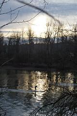 Paddling Under The Sun (Dreshad Williams) Tags: trees sunset nature up oregon river portland outdoors stand wildlife bottom paddle framing oaks willamette refuge photooftheday