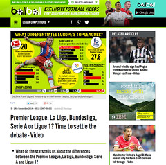 Europes top leagues (Paul Weston, Genius & Me) Tags: news museum illustration paul design newspaper football graphic display map top soccer engineering graph communication business diagram technical data manu