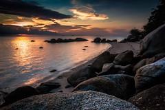Behind the rocks ...