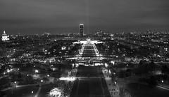 Champs de Mars vu de la tour Eiffel (Vince Mako) Tags: mars paris night canon de noir tour champs eiffel et nuit blanc eos60d