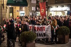 Fiaccolata per il centro di Casale Monferrato dopo la sentenza della Corte di Cassazione sul caso Eternit.