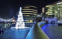 More London & City Hall (stevewilcox32) Tags: christmas uk nightphotography england london architecture buildings lights cityhall illuminations christmastree offices morelondon officesbuildings