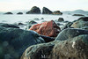 Red Rock (Maarten Mensink.com) Tags: ocean longexposure red water rock weldingglass