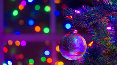 Christmas Ornament Bokeh (Howard Clifton) Tags: christmas christmaslights christmastree ornament bokeh lights