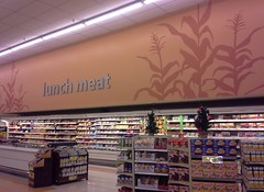 lunch meat sign, right on time (l_dawg2000) Tags: old vintage mississippi supermarket 80s ms bauhaus grocerystore grocery remodel kroger southaven krogergreenhouse krogershoppingcenter 2014remodel