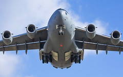 """C-17 from the British air force about to land • <a style=""""font-size:0.8em;"""" href=""""http://www.flickr.com/photos/125767964@N08/16085345994/"""" target=""""_blank"""">View on Flickr</a>"""