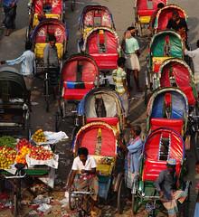 Dhaka /  (Bangladesh) - Rickshaw Capital (Danielzolli) Tags: road street calle strasse capital hauptstadt via rua dhaka capitale rickshaw rue bangladesh bangla astana straat ulice dacca rikscha stolica ulica rruga   rishka bengalen capitala bangladesch   vulica hovedby velorikscha