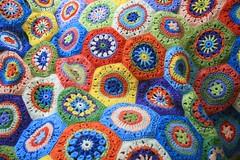 Crochet Hexagon Blanket 3 (Wool n Hook) Tags: crochet retro blanket afghan hexagon throw bedspread haken croche shabbychic tejer hkeln virka hkle ganchillo crochetblanket haakwerk hekle grannythrow crochetthrow retrothrow woolnhook szydelkowac