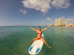 Weekend in Hawaii (BOMBTWINZ) Tags: sunset plane hawaii twins paradise surf waikiki oahu plumeria paddle woody surfing lei bikini longboard diamondhead tandem sup aloha tropics twinkies haku bathers 808 paddleboard hakulei gopro standuppaddle gopole kaikini kaikinibikinis