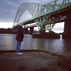 Hello 2015! (-Alii Jones) Tags: life new uk bridge summer portrait england cute nature water girl beautiful clouds river landscape rocks gloomy view cheshire northwest grim walk gorgeous rustic creative hike cliffs adventure stunning colourful mersey exciting newyearsday runcorn selfie merseyside widnes spikeisland chesire 2015 runcornbridge aliijonesphotography