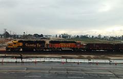 Santa Fe and BNSF (hupspring) Tags: railroad santafe train diesel engine bluebonnet locomotive southerncalifornia orangecounty anaheim placentia bnsf gp60m gp60 yellowbonnet heritageii heritage2 lamiradalocal bnsfsanbernardinosub bnsf143 bnsf168