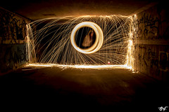 (siomara.reigfornes) Tags: lightpainting color art photo picture pic nocturna fuego capture tunel foc chispas ondara lightphotography lightpainters