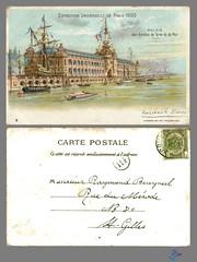PARIS - PALAIS des Armees de Terre et de Mer (bDom) Tags: paris 1900 oldpostcard cartepostale bdom