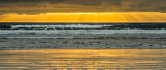 Atlantic Ocean Sunrise (hjuengst) Tags: ocean orange yellow sunrise golden meer wave tenerife teneriffa sonnenaufgang canaryislands wellen elmedano kanarischeinseln ozean simplysuperb nikond7000
