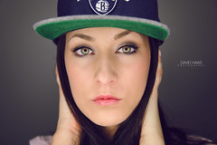 (DAVID HAAS PHOTOGRAPHY) Tags: portrait eye love sport vintage model cap augen frau blitz base ringleuchte