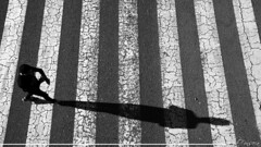 Yo y mi otro Yo (Sebas Fonseca) Tags: barcelona street city shadow people urban blackandwhite espaa white black byn rayas blanco nikon flickr stripes negro pedestrian ciudad sombra urbano striped rayado peaton d7000 sebafonseca
