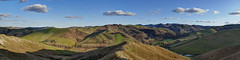 Golden hour in Val di Zena (Daisuke Ido) Tags: winter sky panorama valle hills cielo valley zena inverno colline apennine appennini flickraward5