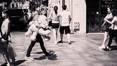 Two Teddies (bg_syd) Tags: street white black monochrome chinatown teddy takumar couples super sidewalk jeans 55mm f2