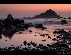 Alau Island At Dawn II (Hamilton Images) Tags: sky rock clouds sunrise canon landscape dawn hawaii lava surf waves january maui hana kokibeach 2015 24105mm leefilter img3215 alauisland 7dmarkii 09softedgegraduatedneutraldensity