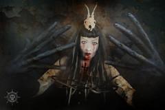 High Priestess of Doom (Delirio Photography) Tags: portrait strange photomanipulation photoshop dark weird crazy scary darkness surreal creepy spooky fantasy portraiture scream horror demon deviant deviantart creep enchanted ambiance darkarts darkdeviations migueldemelo deliriophotography