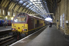 Class 67 after dragging a 225 set into King's Cross (led by DVT 82229)