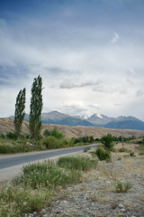 Tian Shan Mountains (e-Shard) Tags: road travel viaje asia fuji silk journey silkroad fujifilm centralasia kyrgyzstan seda tianshan issykkul issyk exussr viatje excccp issykkullake  rutaseda fujifilmx darktable fujifilmx100 fossphotography linuxphotographer freesoftwareedit ossphotography