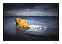 Last Man Standing (Seven_Wishes) Tags: uk sea seascape water rock painting northumberland coastal oilpainting newcastleupontyne seastack tyneandwear seatonsluice charliesgarden newcastleupontynenortheast