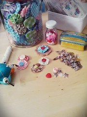 Today I just wanted to play with yoyos! (1) (mamitadolls) Tags: crafts handstitching