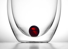 Glass Cherry (nikagnew) Tags: red abstract glass lines cherry drink curves minimal clear highkey backlit marble transparent simple backlighting 23ccfbtred