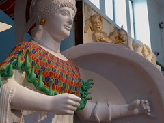 Gods in Colour, recreations by Stiftung Archaologie, Frankfurt (jacquemart) Tags: greek frankfurt plaster cast oxford classical ashmoleanmuseum godsincolourrecreations stiftungarchaologie