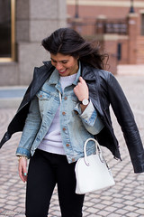 Leather jacket over denim jacket, mint green trainers-4.jpg (LyddieGal) Tags: blue winter white black fashion sweater outfit gap mint style trainers denim wardrobe tjmaxx leatherjacket denimjacket layered thrifted ccskye weekendstyle danielwellington monogramring