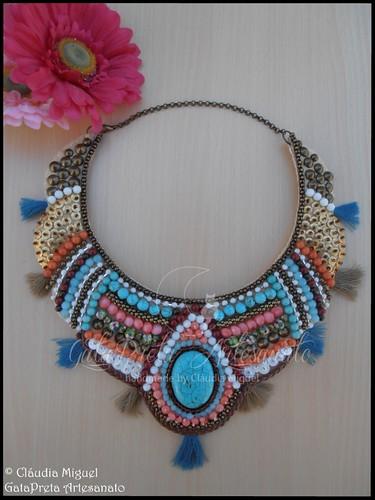 """Maxi-colar """"Tribal"""" (colecção Primavera-Verão 2015)"""
