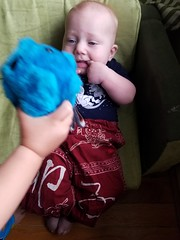Confronting the rhinovirus (quinn.anya) Tags: paul baby rhinovirus cold germ microbe couch